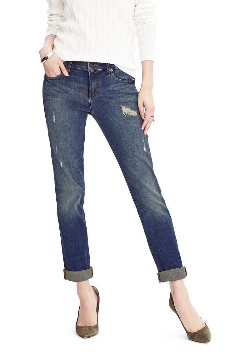 Banana Republic Distressed Straight Jean