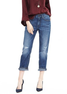 Banana Republic Distressed Wash Boyfriend Jean