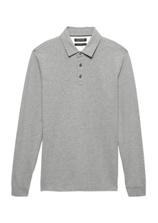 Banana Republic Don't-Sweat-It Long-Sleeve Polo