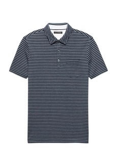 Banana Republic Don't-Sweat-It Oxford Stripe Polo