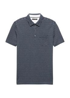 Banana Republic Don't-Sweat-It Oxford Stripe Polo