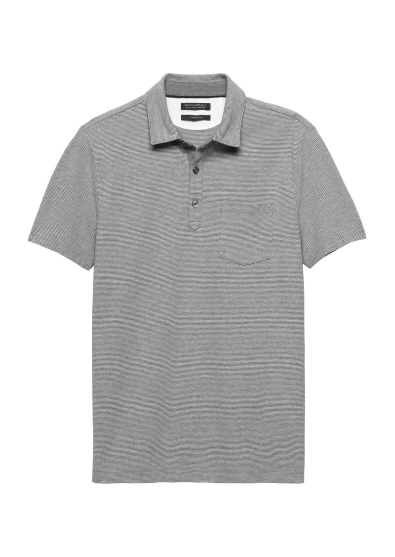 Banana Republic Don't-Sweat-It Stripe Polo