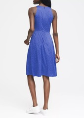 Banana Republic Dot Paneled Fit-and-Flare Dress