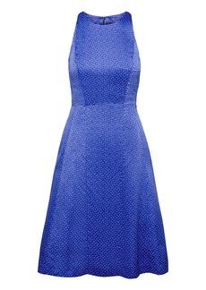 Banana Republic Dot Paneled Fit-and-Flare Dress