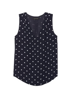 Banana Republic Dot Pleated Drapey Tank