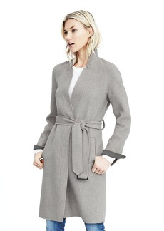 Double-Face Belted Wrap Coat