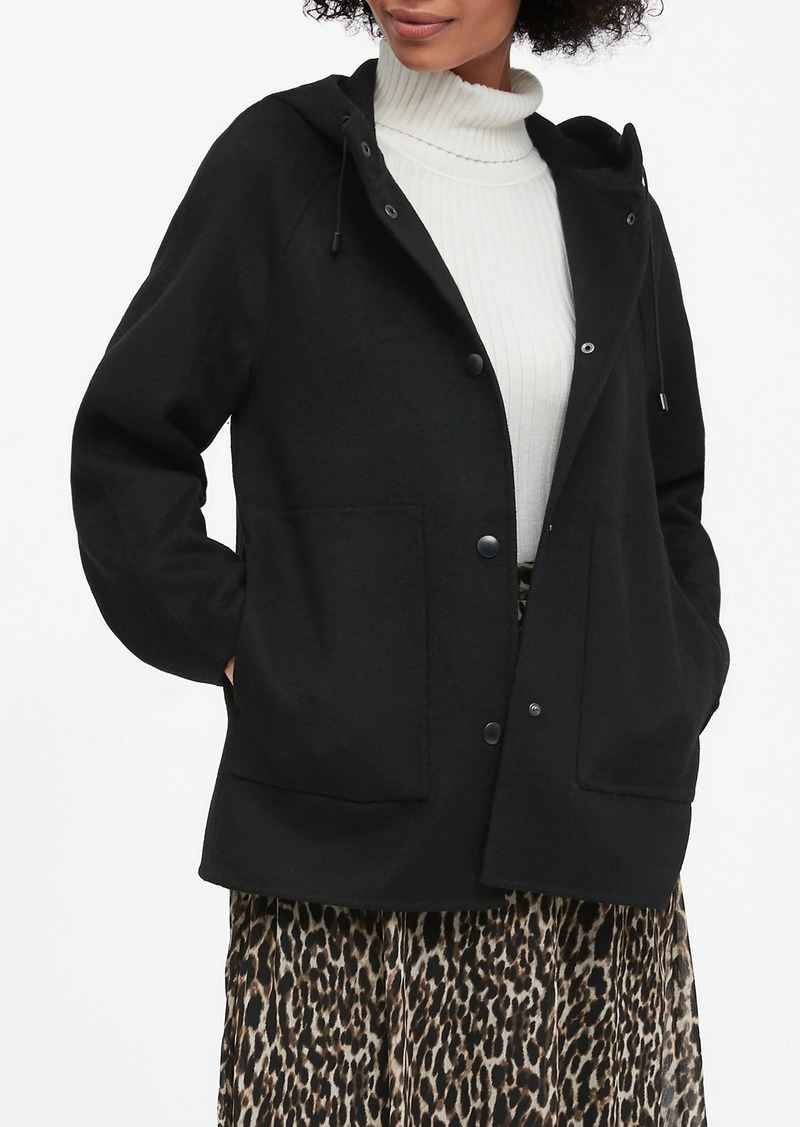 Banana Republic Double-Faced Hooded Jacket