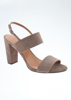 Banana Republic Double Strap Block Heel Sandal