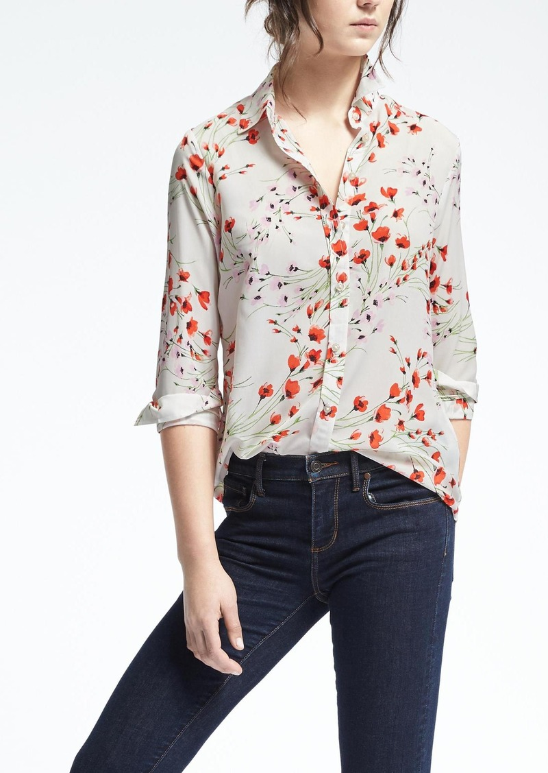 137646820fb55 Banana Republic Easy Care Dillon-Fit Floral Shirt
