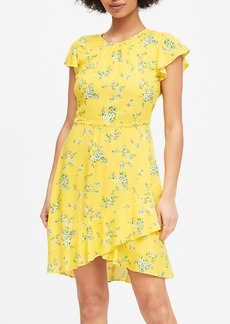 Banana Republic ECOVERO&#153 Flutter-Sleeve Mini Dress