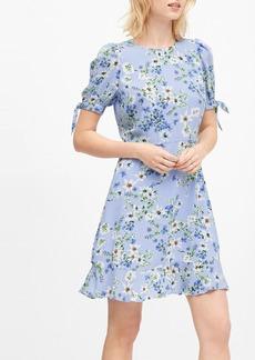 Banana Republic Puff-Sleeve Mini Dress