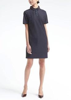 Embellished-Collar Polo Dress