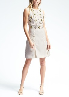 Banana Republic Embellished Fit & Flare Dress
