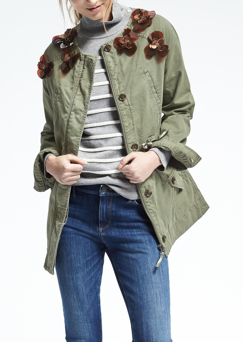Banana Republic Embellished Military Jacket