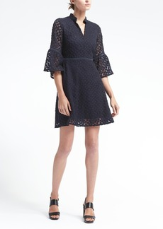 Banana Republic Embroidered Floral Bell-Sleeve Shift Dress