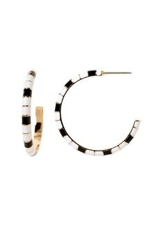 Banana Republic Enamel Stripe Hoop Earring