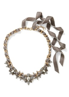 Banana Republic Encrusted Velvet Necklace