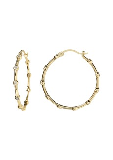 Banana Republic Everyday Luxuries 14k Gold-Plated CZ Hoop Earring