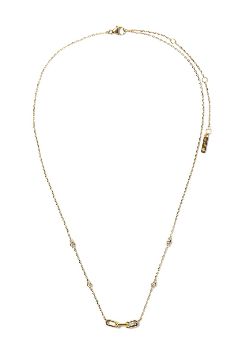 Banana Republic Everyday Luxuries 14k Gold-Plated CZ Link Necklace