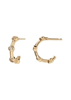 Banana Republic Everyday Luxuries 14k Gold-Plated CZ Mini Hoop Earring