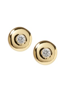Banana Republic Everyday Luxuries 14k Gold-Plated CZ Stud Earring