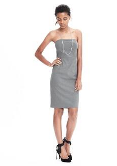 Exposed Dart Strapless Dress