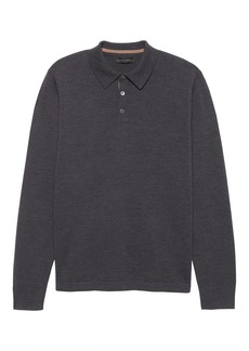 Banana Republic Extra-Fine Italian Merino Wool Sweater Polo
