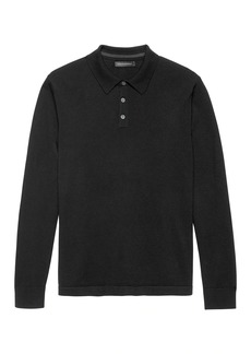 Banana Republic Italian Merino Wool Sweater Polo