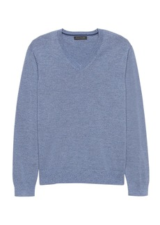 Banana Republic Extra-Fine Italian Merino Wool V-Neck Sweater