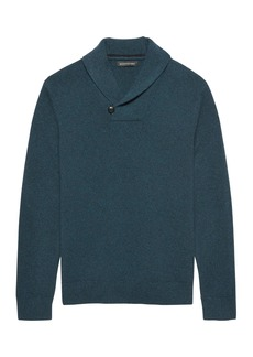 Banana Republic Italian Merino Wool Shawl-Collar Sweater