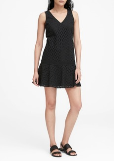Banana Republic Eyelet Drop-Waist Dress