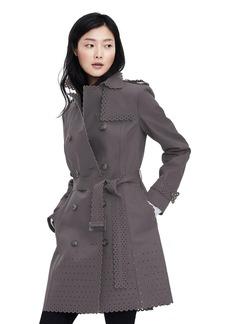 Eyelet Trench Coat