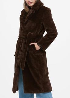Banana Republic Faux Fur Long Coat