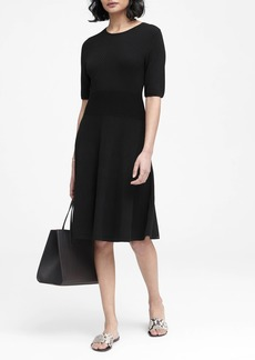Banana Republic Fit-and-Flare Sweater Dress