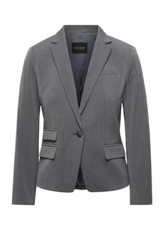 Banana Republic Fitted Crop Heathered Blazer