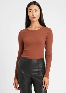Banana Republic Fitted Ribbed Long-Sleeve T-Shirt