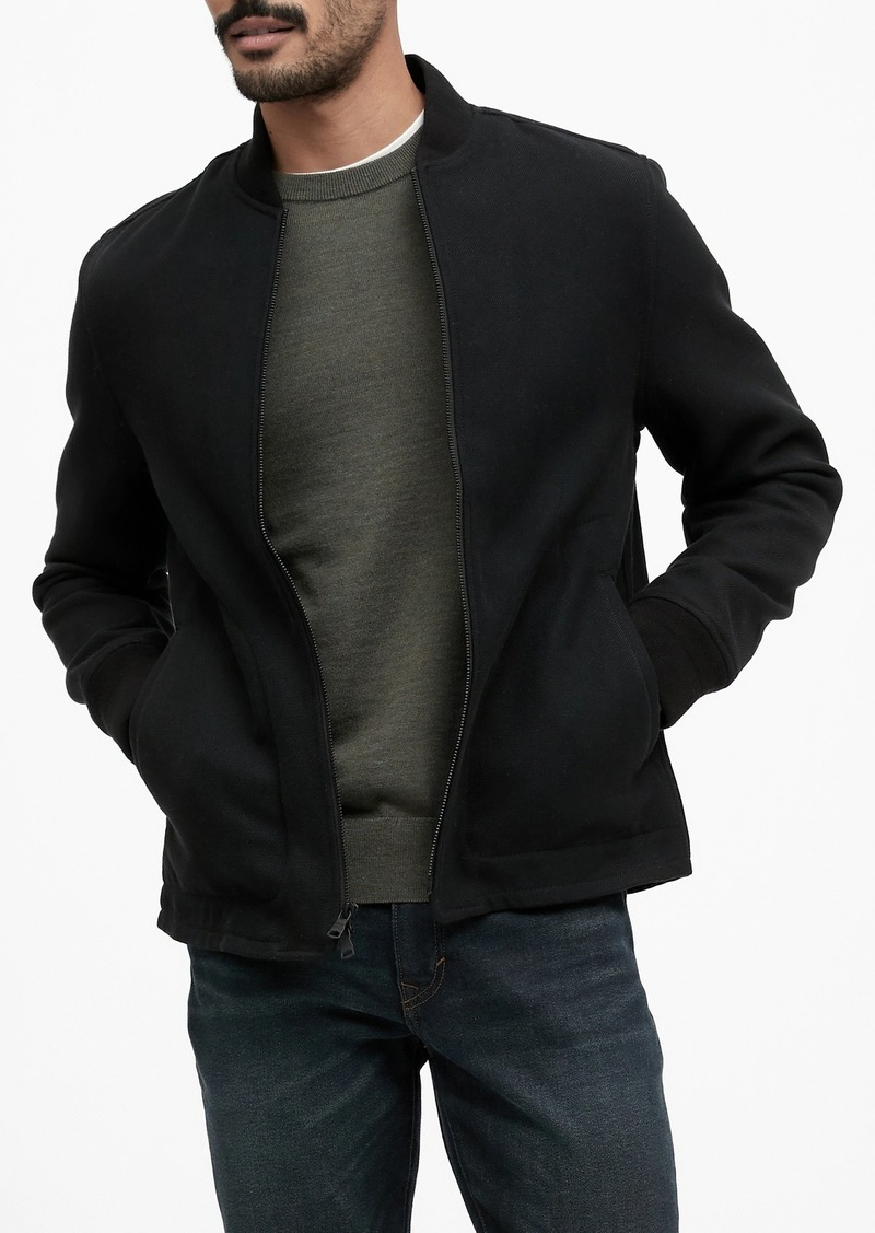 Banana Republic Flannel Bomber Jacket with COOLMAX® Technology