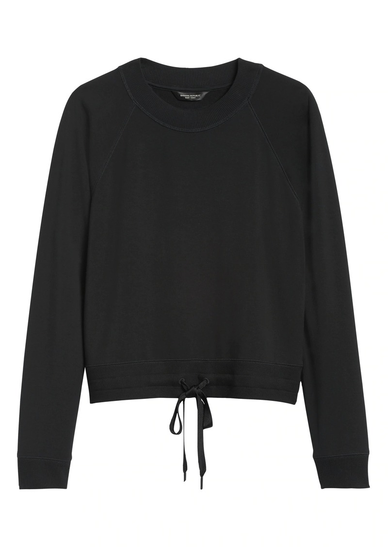 Banana Republic Fleece Cropped Sweatshirt