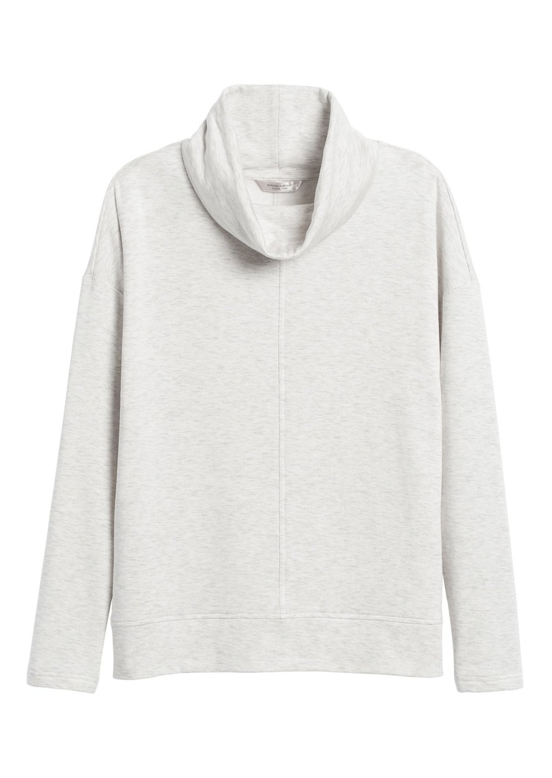 Banana Republic Fleece Funnel-Neck Sweatshirt
