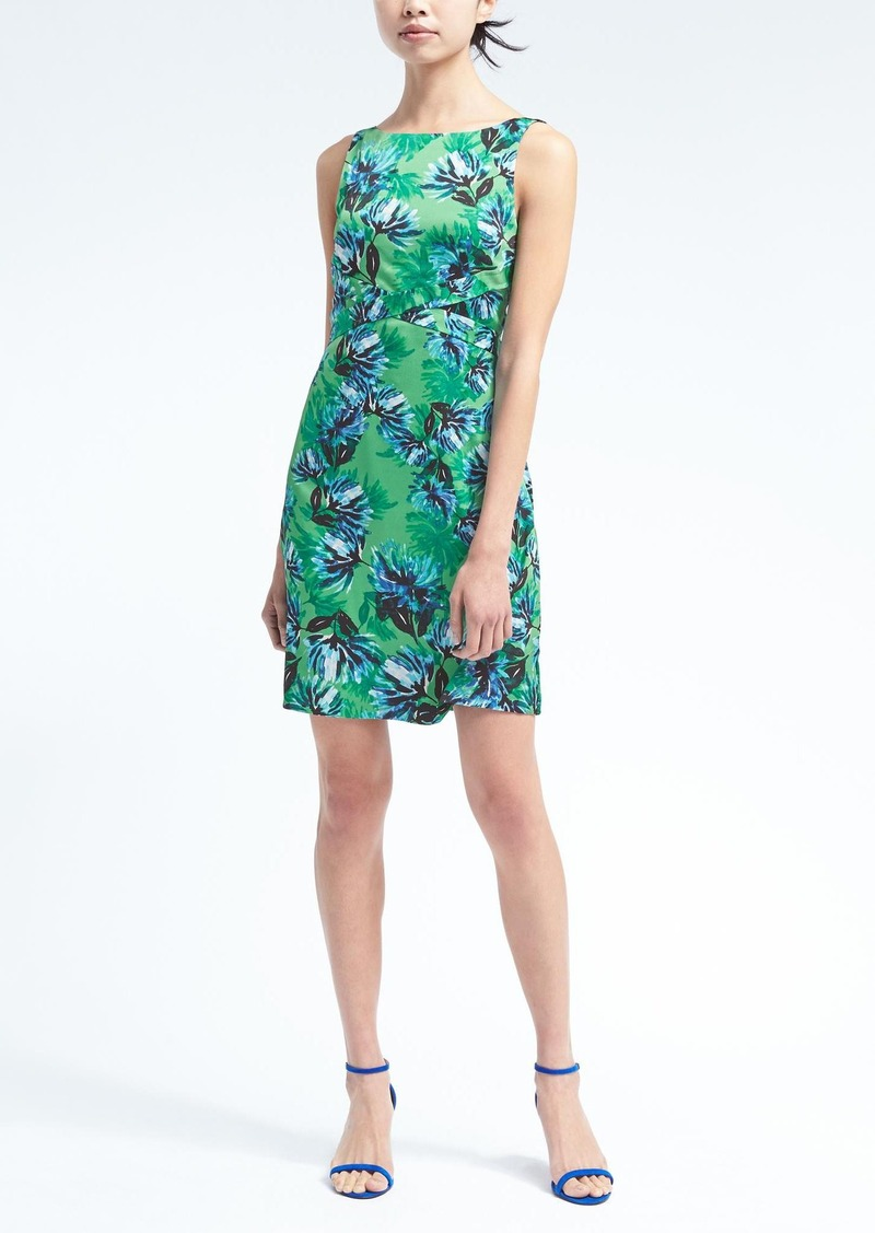 Banana Republic Floral Apron Fit-and-Flare Dress Now $34.97
