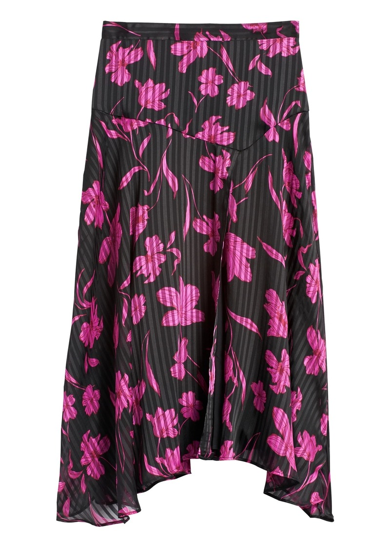 Banana Republic Floral Asymmetrical Skirt