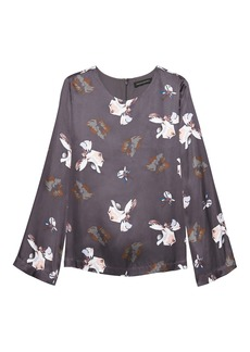 Banana Republic Floral Bell-Sleeve Top
