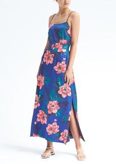Banana Republic Floral Belted Maxi Dress