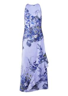 Floral Cascade Ruffle Maxi Dress