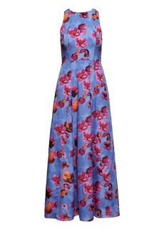 Banana Republic Floral Contrast Stitch Maxi Dress