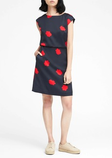 Banana Republic Floral Drape Back Dress