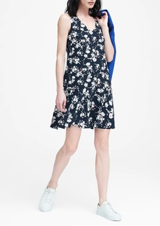 Banana Republic Floral Drop-Waist Shift Dress