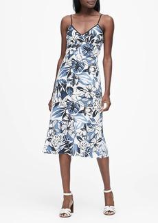 Banana Republic Floral Linen-Cotton Midi Dress