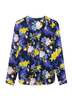 Banana Republic Floral Long-Sleeve V-Neck Top