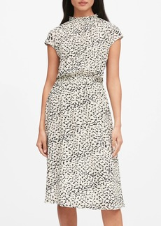 Banana Republic Print Midi Dress